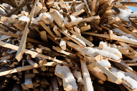 Wood waste. Wreck boards. Waste from the boards. Firewood. Fuel for the stove.