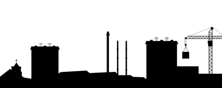 lowering: illustration the silhouette of the city