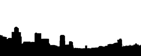 Vector illustration the silhouette of the town. Vector