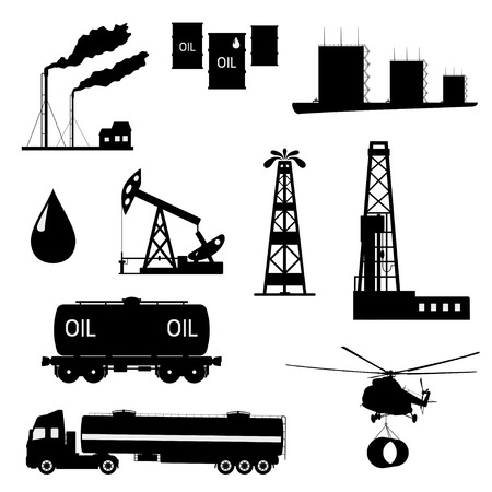 Vector illustration the oil and petroleum icon set. Vector