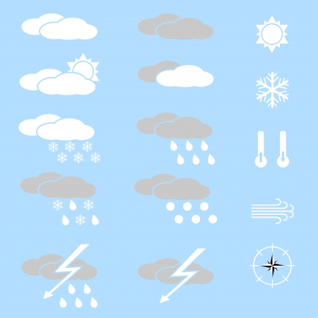 적란운: 날씨 아이콘의 집합입니다.