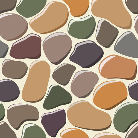Cobblestone seamless background. Vector
