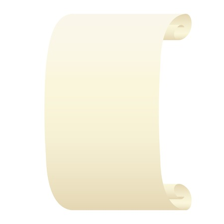 vellum: Scroll on a white background.