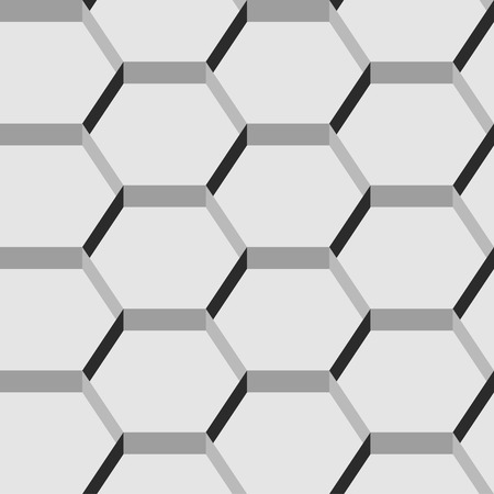 meshwork: Seamless pattern of hexagons  Illustration