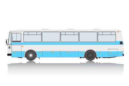 Bus on a white background  Vector