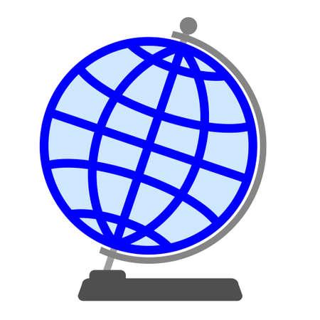 spherule: Globe on a white background.