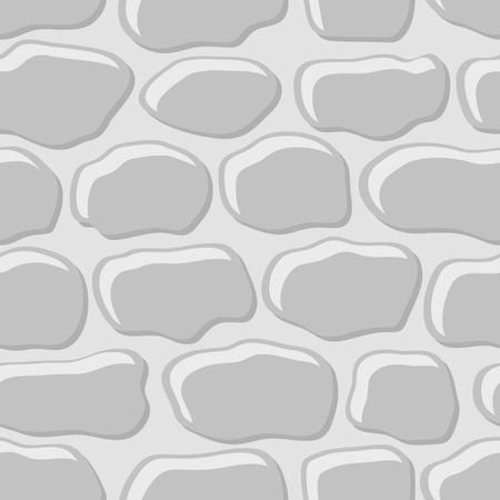 Vector illustration of gray cobblestone seamless background.