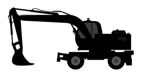 dredging tools: Silhouette the excavate.