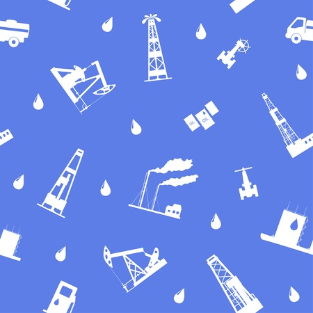 Oil and petroleum icon. Seamless. Vector