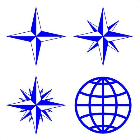 rosa dei venti: L'emblema della rosa dei venti.