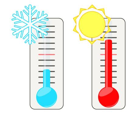 termometro: Dos termómetros. Vectores