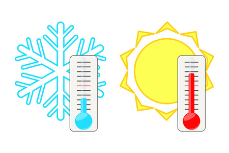 thermometers: Two thermometers. Illustration