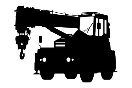 cranes: Crane Silhouette on a white background. Vector illustration.