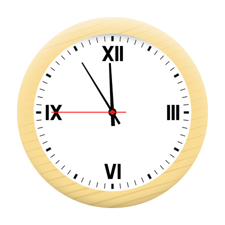 hull: Watch isolated on a white background. Vector illustration.