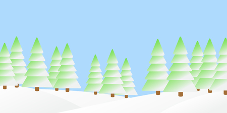 wintery: The illustration of winter forest landscape.