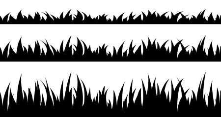 sward: Vector illustration the set of seamless the grass.