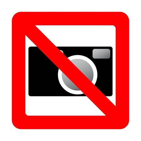 Sign prohibiting use of camera.