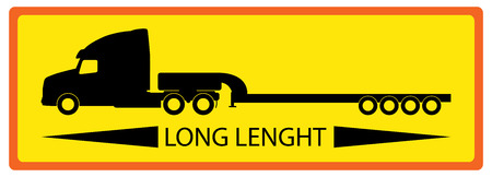 greater: The sign indicating greater length of the car. Illustration