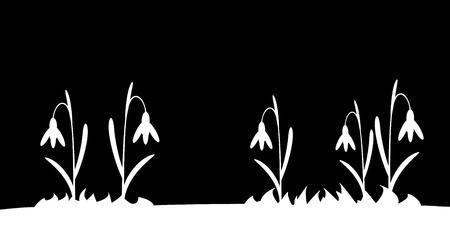 Naadloos silhouet gras en bloemen. Vector illustratie.