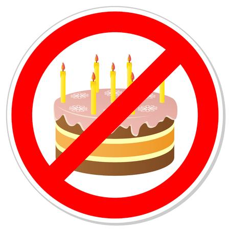 Geburtstagskuchen Zeichen verbieten.