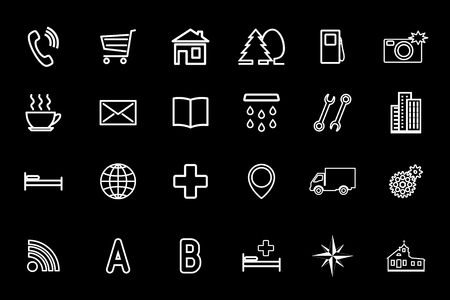 Set of icons for the card.