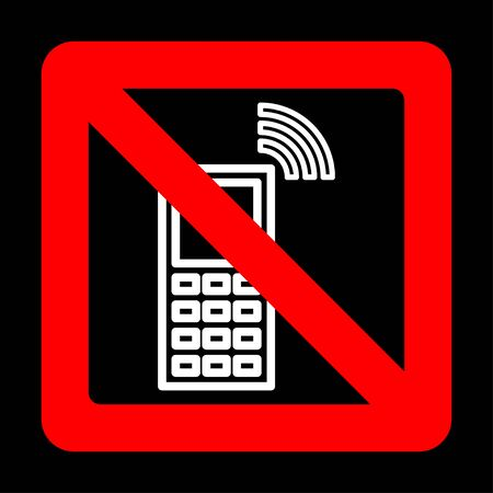 Sign forbidding to use the phone. Vector illustration. Illustration