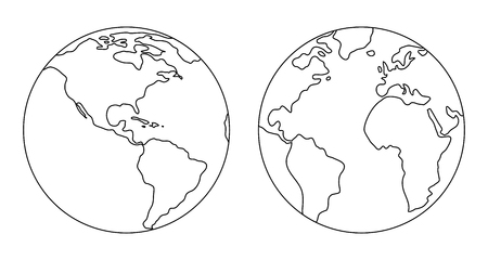 The image of the planet Earth. Vector illustration. Vector Illustration