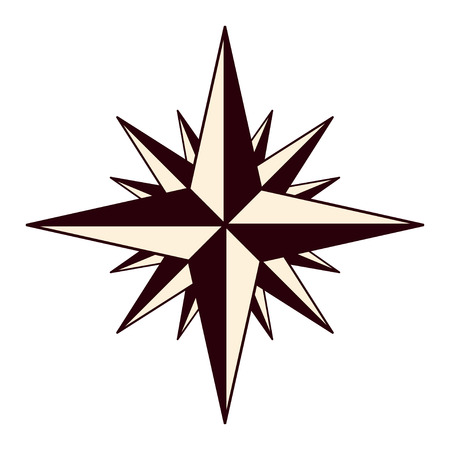 The emblem of the compass rose.