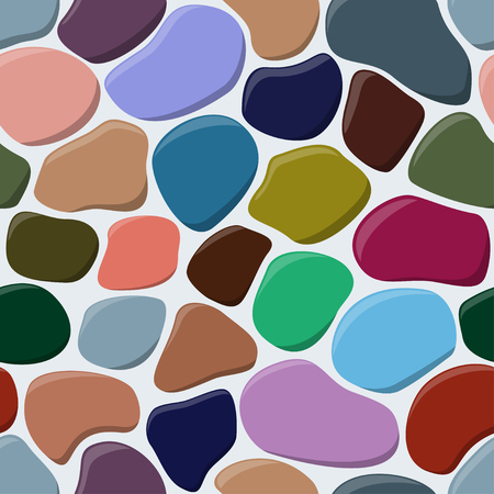 Vector illustration of cobblestone the seamless background.