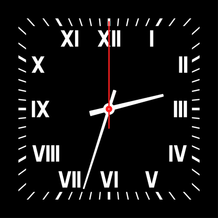 Watch isolated on a white background. Vector illustration.