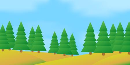 Summer forest landscape.