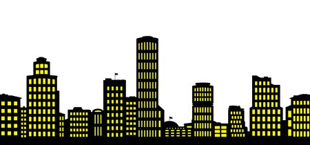 Silhouettes the cityscapes. Stock Illustratie
