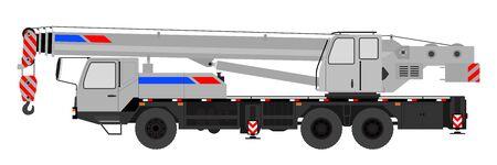 Crane on a white background. Vector illustration. Stock Illustratie