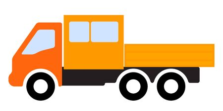 Color image of a truck Stock Illustratie