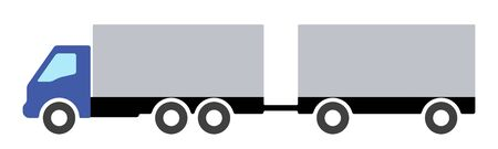 Silhouette of a truck on a white background. Stockfoto - 147455465