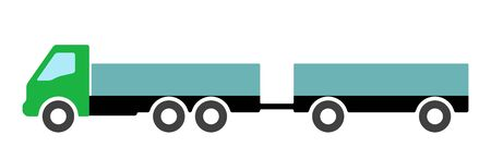Silhouette of a truck on a white background. Vector illustration. Ilustracja