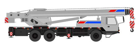 Crane on a white background. Vector illustration. Ilustracja