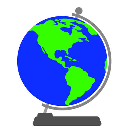 Globe on a white background. Vector illustration.