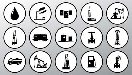 Vector illustration the oil and petroleum icon set.