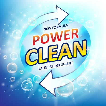 blanchisserie détergent paquet de lavage de la machine à outils ou salle de bains balai . shampooing à laver modèle de machine à laver . vector illustration eps 10 Vecteurs