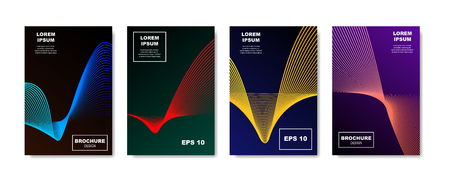 Minimalistic abstract covers design. Future halftone geometric gradients template for Banner, Placard, Poster, Flyer Design. vector illustration.