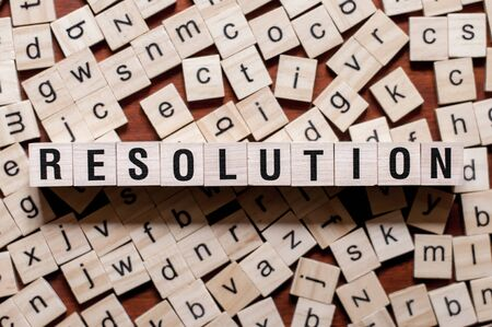Resolution word concept on cubes for articles
