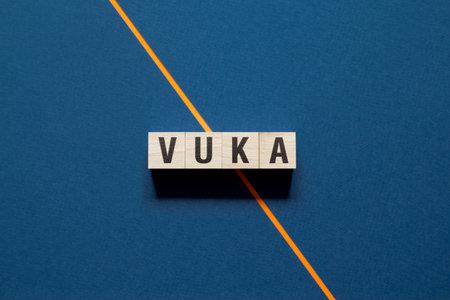 Vuka word concept on cubes. 免版税图像