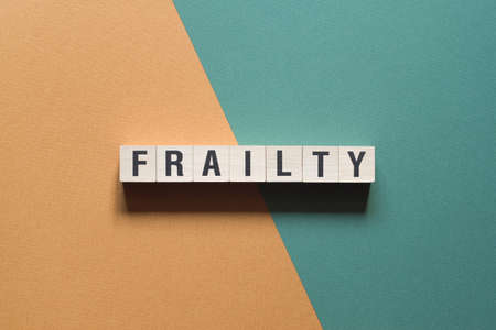Frailty word concept on cubes.