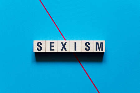 Sexism word concept on cubes.
