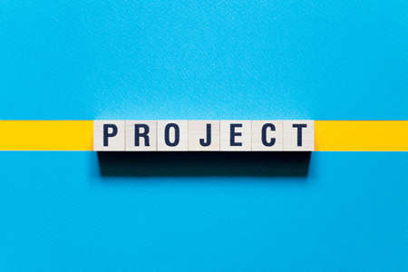 Project word concept on cubes.