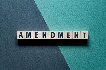 Amendment word concept on cubes
