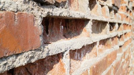 impediment: old brick wall