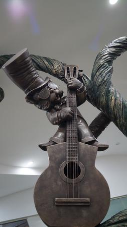 acoustics: guitar player Stock Photo