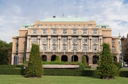 institute: Palace Karolinum medivel education complex, old European international university of Protector Emperor Charles IV in Prague Czech Republic